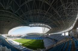 Estructura espacial del Estadio Reale Arena en Donostia