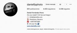 Perfil de daniel fernandez en Instagram