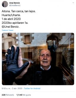 Fotografía de Unai Beroiz que ha dado la vuelta al mundo