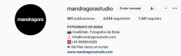 Perfil de mandragora en Instagram