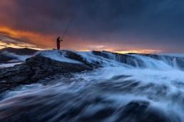 Pescador en Hendaya