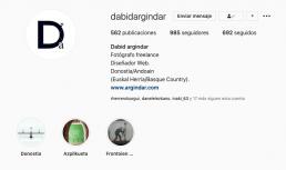 Perfil profesional de Dabid Argindar en Instagram