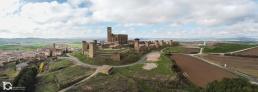 Fotografía aérea con drone de Cerco de Artajona (Navarra) by yongarin.com